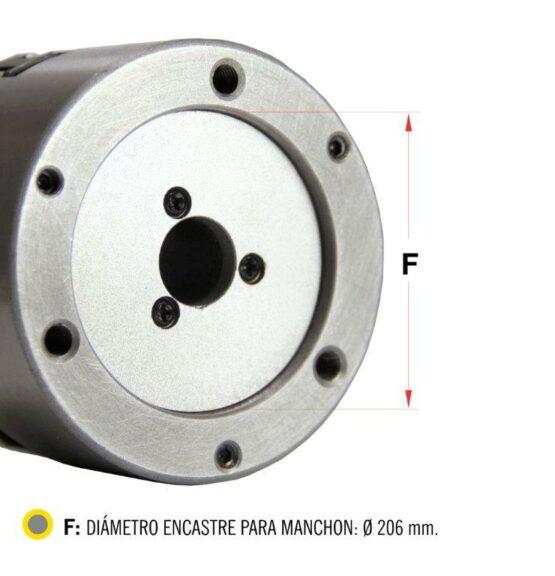 Plato Para Torno De Tres Mordazas Auto Centrante Diam. 250mm